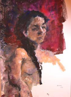 Laura:pastel gras sur papier 65X50 cm
