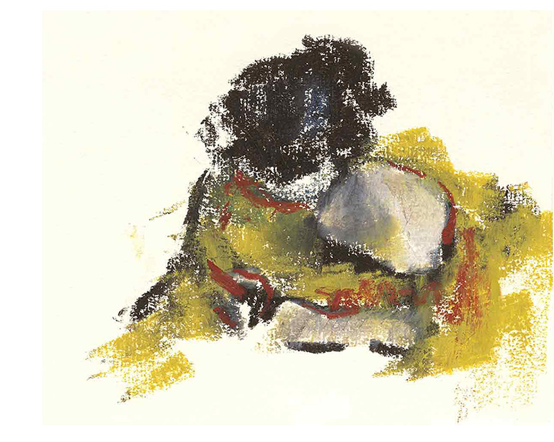 La liseuse, Pastel gras, 15X20 cm