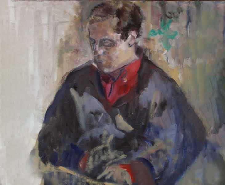 portrait :Huile sur toile 81X65 cm